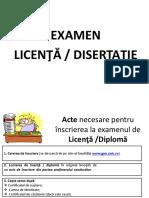 Examenul de Licenta Disertatie