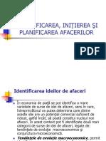 Identificarea, Iniţierea Şi Planificarea Afacerilor (1)