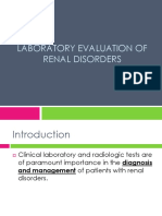Laboratory Evaluation of Renal Disorders