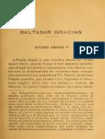Estudio crítico sobre Baltasar Gracián, de Arturo Farinelli