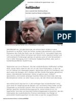 Geert Wilders Im Wahlkampf_ Der Lügende Holländer - Taz
