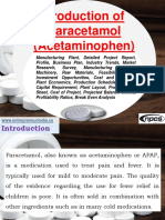 Production of Paracetamol (Acetaminophen) Manufacturing Plant, Detailed Project Report, Profile, Business Plan, Industry Trends, Market Research, Survey, Manufacturing Process, Machinery, Raw Materials, Feasibility Study, Investment Opportunities, Cost and Revenue, Plant Economics, Production Schedule, Working Capital Requirement, Plant Layout, Process Flow Sheet, Cost of Project, Projected Balance Sheets, Profitability Ratios, Break Even Analysis