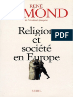 Religion Et Societe en Europe. - Remond Rene