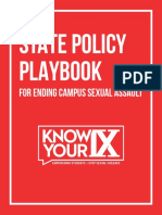 Know Your IX Policy Playbook Print Version