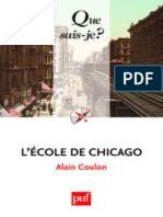 L'Ecole de Chicago - Alain Coulon