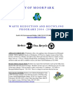 Waste Reduction and Recycling Programs - Moorpark CA
