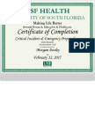 critical incident certificate