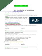 Condition vs Hypothèse