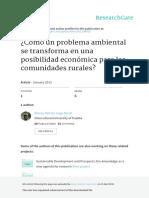 LUGO - Cómo Un Problema Ambiental Se Transforma en Una Posibilidad Económica Para Las Comunidades Rurales