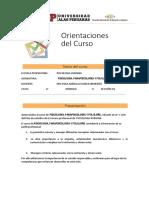 Orientaciones Del Curso Psicologia, Parapsicologia y Folklore