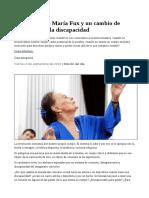 Danzaterapia, María Fux y Un Cambio de Mirada Sobre La Discapacidad