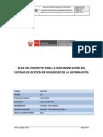 SGSI Plan Del Proyecto plantilla