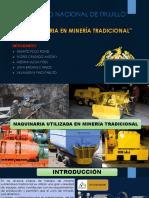 maquinaria minera tradicional