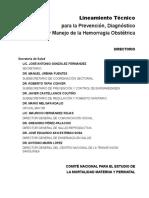 Lineamiento Técnico Hemorragia Obstétrica