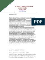 Conflicto y Propuesta de Autonomia Mapuche