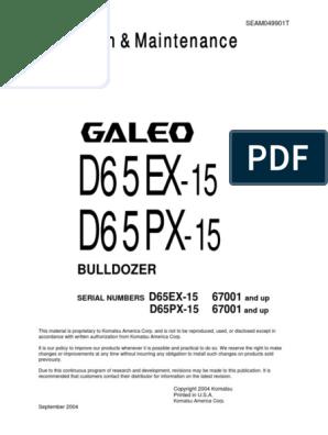 Komatsu Bulldozer D37EX-22 D37 EX 22 Service Repair  Shop Manual