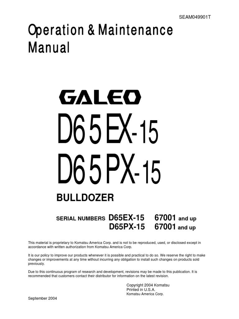 Komatsu D65px 15 Service Manual High Voltage Safety Alternator Wiring Diagram