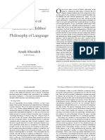 Absence of Reference in Hobbes Philosophy of Language
