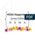 hosa happenings spring  1