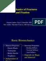 Biomechanics of Fracture & Fixation