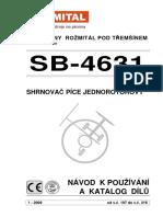 1-Shrnova Pice SB 4631 - Katalog ND - Navod k Obsluze