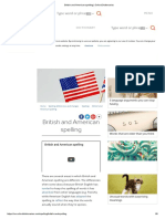 British and American Spelling _ Oxford Dictionaries