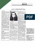 Amy Verhoeven, women's volleyball