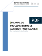Manual de Procedimientos de Admision Hospitalaria