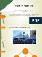 Gestion Post Feria