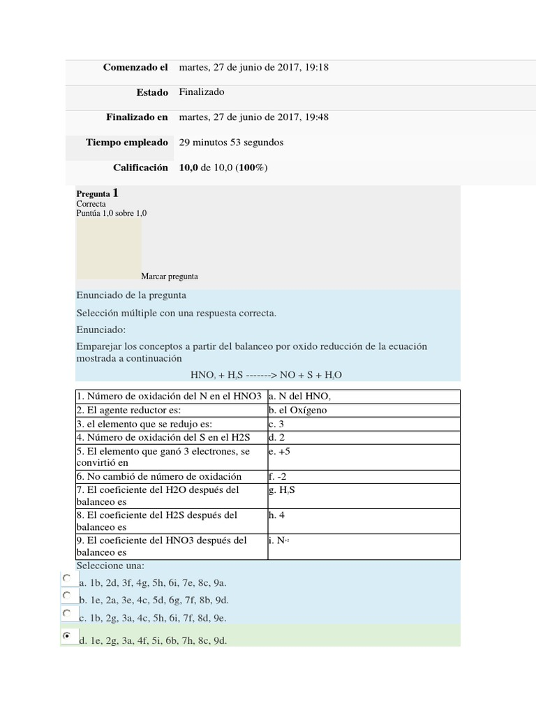 Quimica General Cuestionario