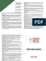 Prayer Diary July 2017