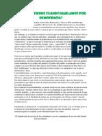 Etica y Democracia en El Peru