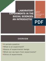 2010-11-10 Benard Experimental Slides
