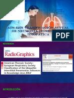 ATS-ERS Clasificación de Neumonía Intersticial Idiopática