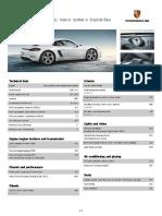 Porsche Equipment List 718 Cayman S Carrara White Metallic (MY2017)