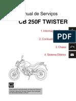 Manual de Serviços - CB250F TWISTER (2016) STD e ABS