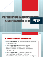 Criterios de Evaluacion ambiental
