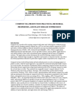 COMPOST TEA PRODUCTION PRACTICES, MICROBIAL PROPERTIES, AND PLANT DISEASE SUPPRESSION
