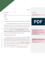 Comp 1 Essay Editorial Review
