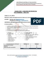 Resultado 2da fase Coneimera UNSA 2015