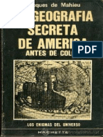 De Mahieu Jacques - La Geografía Secreta de América