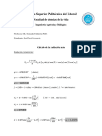 Cálculo de La Radiación Neta
