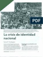 Lectura La Crisis de Identidad Nacional