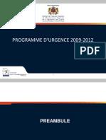 2009 12 Programme Urgenve 2009 12