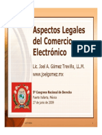 Aspectos Legales Comercio Electronico