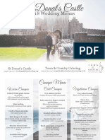 Town and Country, St Donat's Castle 2018 Menu Brochure