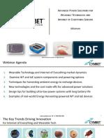 Cymbet GlobalSpec Webinar Powering Wearable Tech and IoE