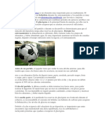 Nutrición en El Futbol