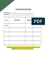 2. Formato de Registro de Actividades Diarias