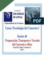 Notas de Clase Sesion 20 Preparacin y Transporte Del Concreto